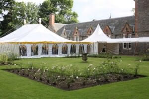 smaller spaces and garden Marquees