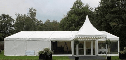 Perfect Fit For Small Events in Your Own Garden, smaller spaces and garden marquees