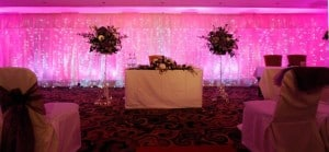 décor for wedding marquee hire