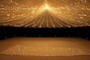 black walls roof lighting on Marquees