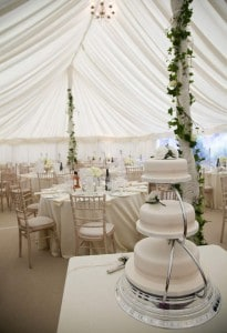 cake table wedding marquee for hire