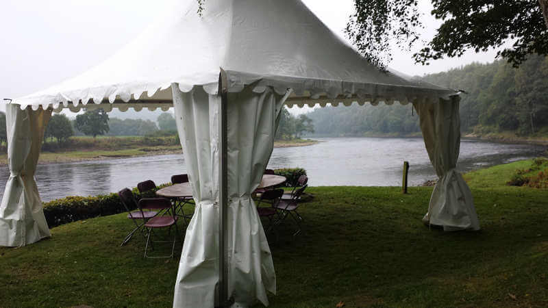 Fishing marquee tent on river Tay (1)