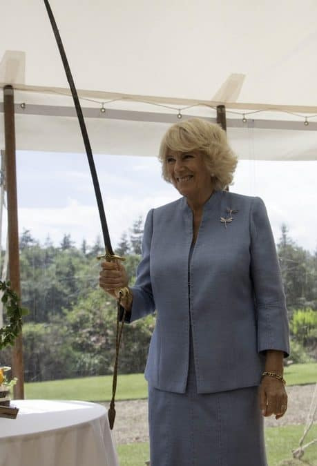 Royal visitor celebrates 85 years of Scotland's Gardens in a Myreton Marquee