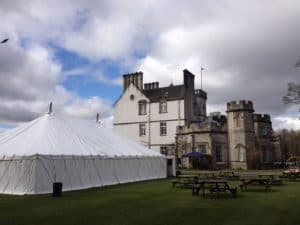 photo of rear of Traditional Marquee hire in Scotland for wedding