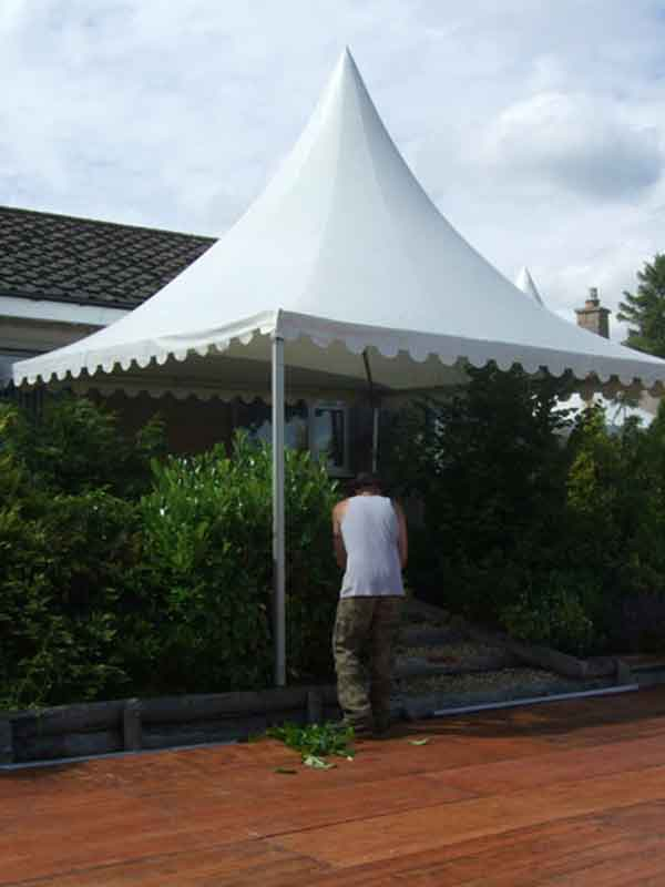 small marquee hire borders function at customers home