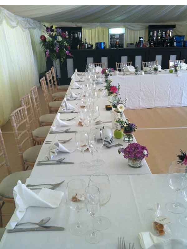 marquee hire Borders table layout