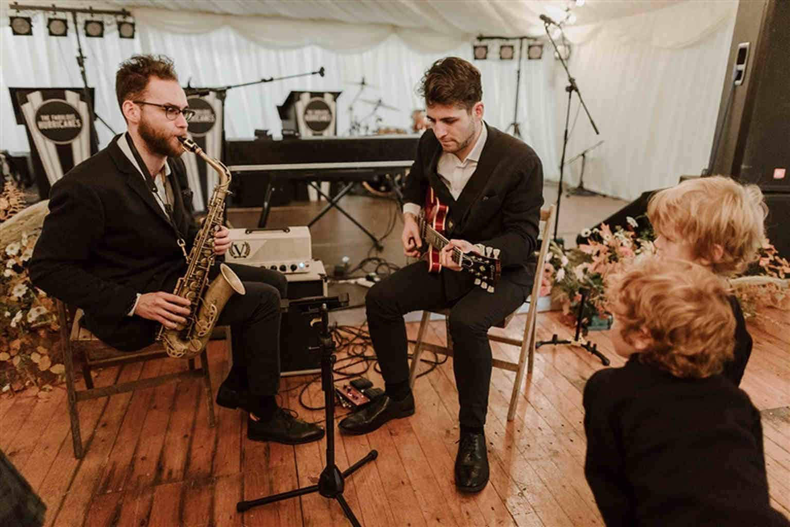 Musicians in marquee hire