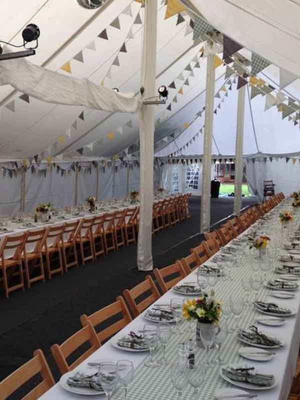 Summer garden party in a traditional marquee hire Edinburgh