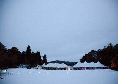 marquee hire in winter setting