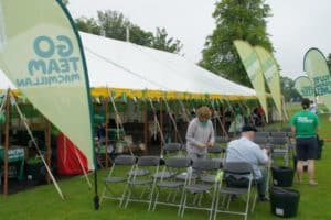 marquee hire for charity event in Scotland