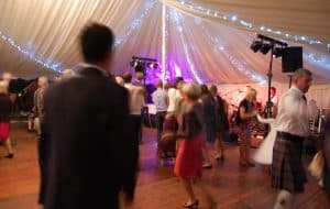 Marquee hire at Marquee Hire East Lothian at Ravensheugh Log Cabin